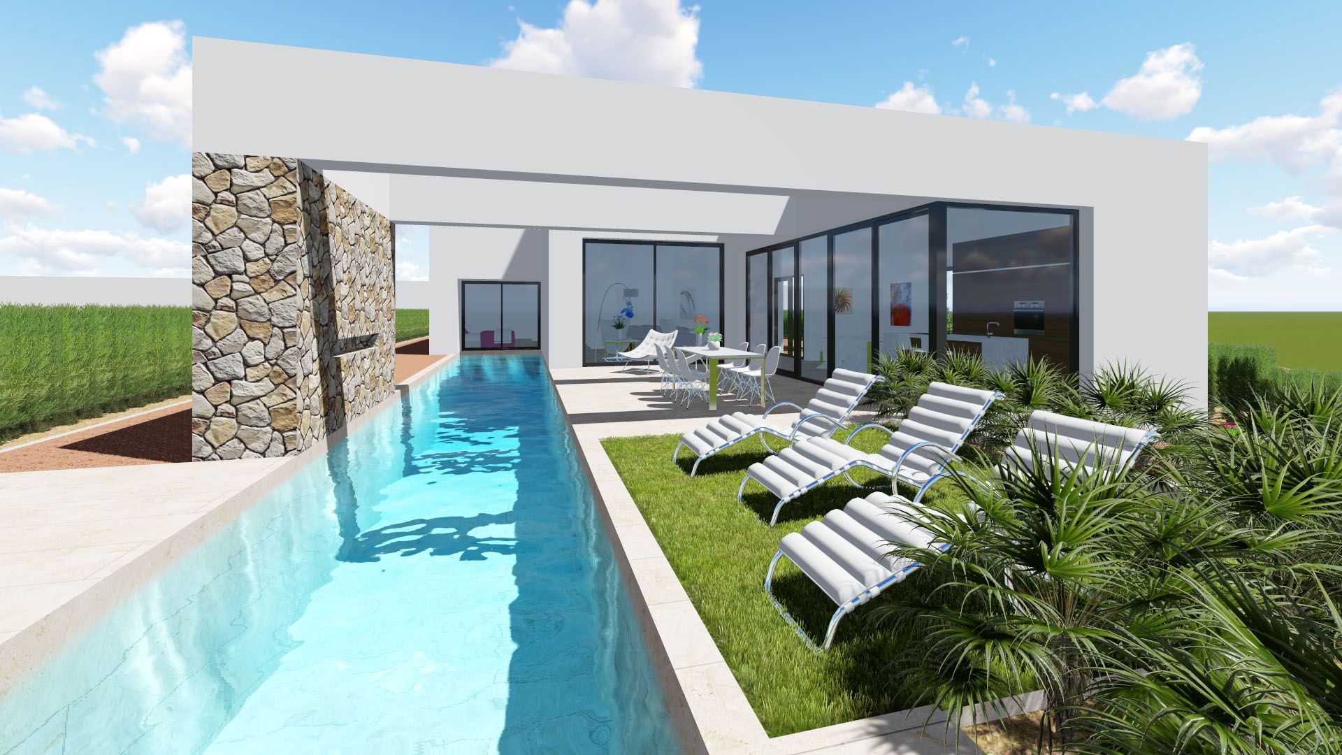New 3 bedroom detached villa with private pool and garden in Benijófar 1