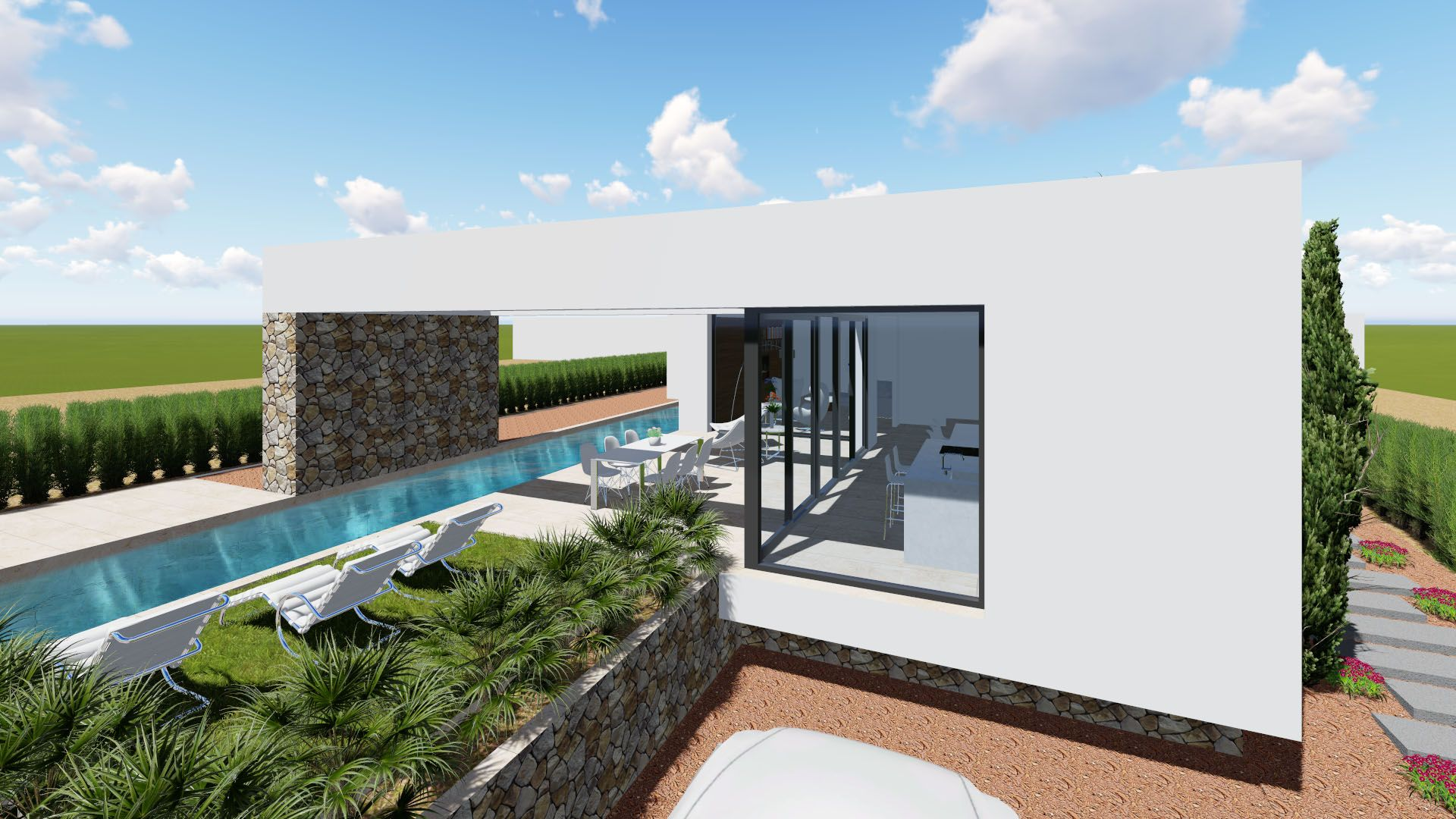 New 3 bedroom detached villa with private pool and garden in Benijófar 3
