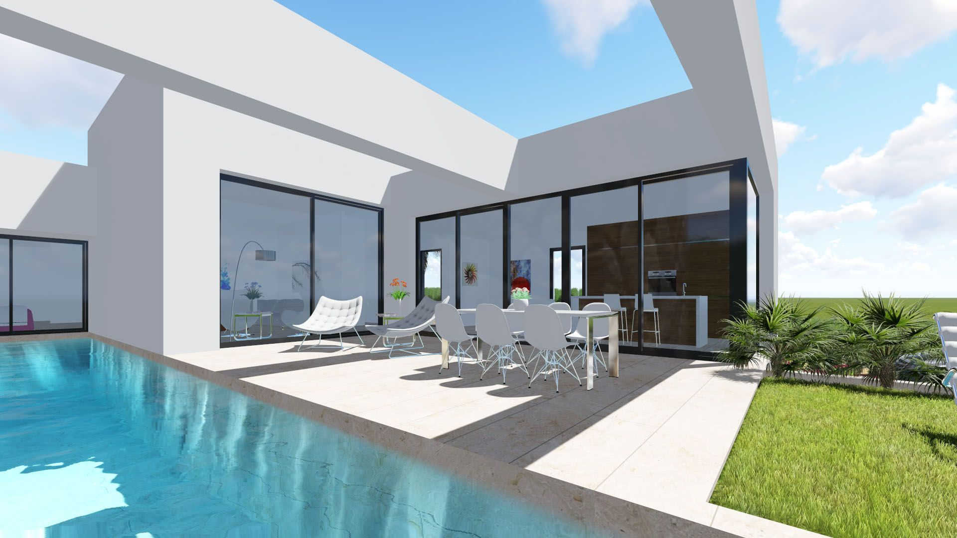 New 3 bedroom detached villa with private pool and garden in Benijófar 5