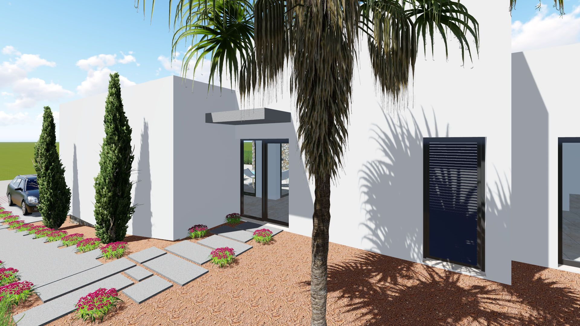 New 3 bedroom detached villa with private pool and garden in Benijófar 6