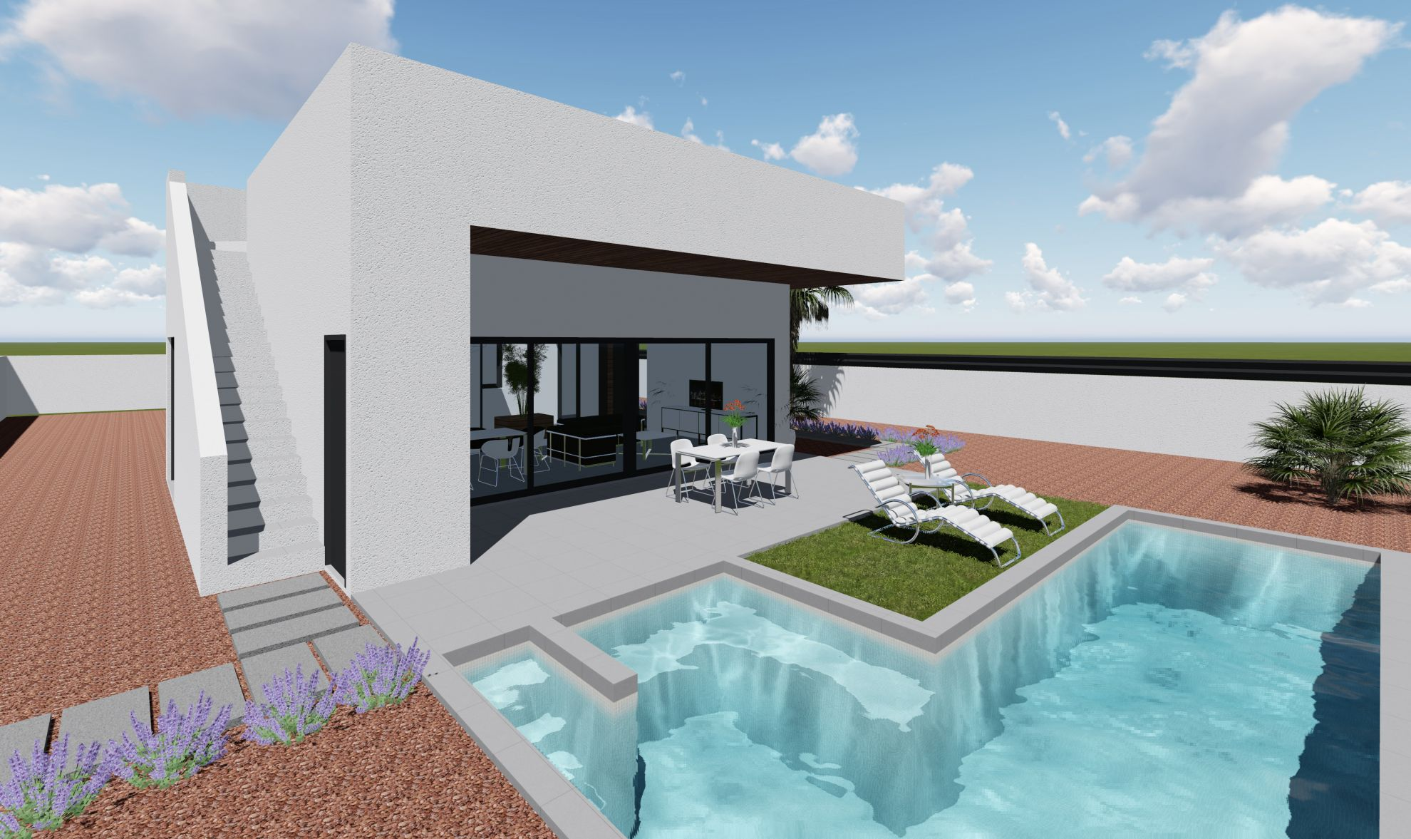 3 bedroom luxury villa with private pool and plot in San Fulgencio 3