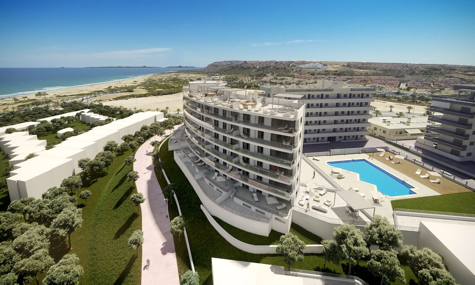 Flats and penthouses of 2, 3 and 4 bedrooms a few meters from the sea in Arenales del Sol. 18