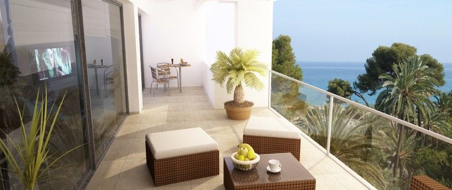 Apartments and townhouses with direct access to the beach in Villajoyosa. 4