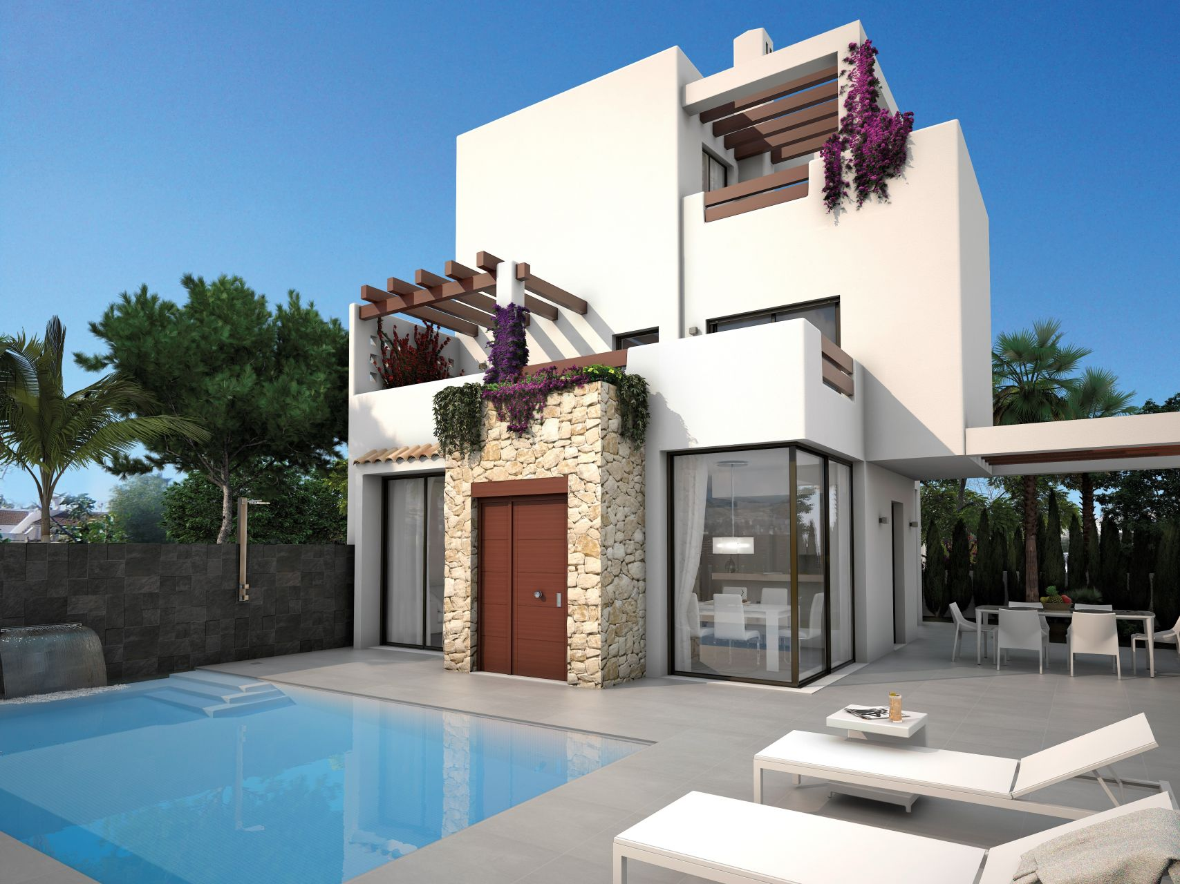 3 bedroom and 3 bathroom villa with pool 10