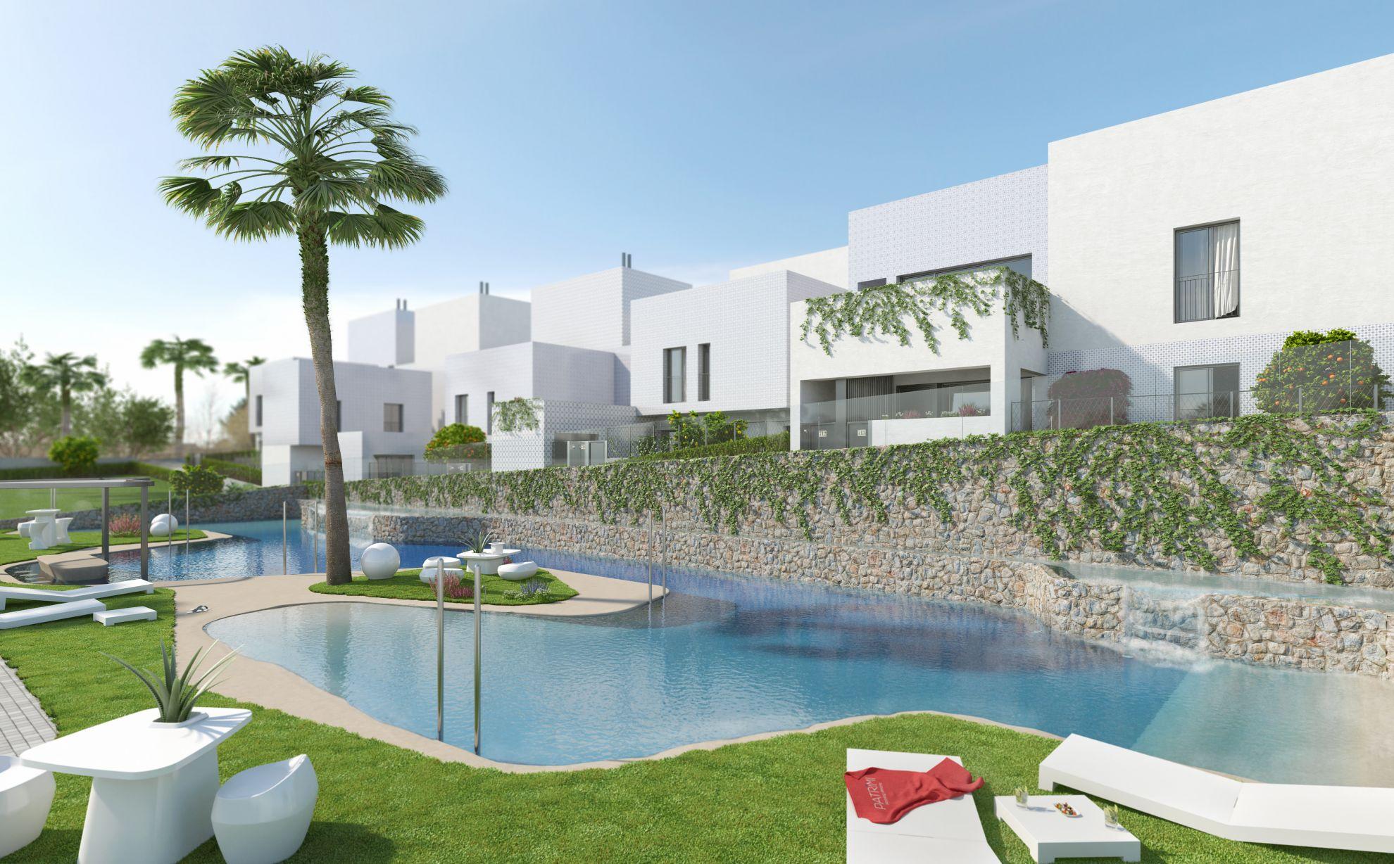 Detached villa with 2 bedrooms, in urbanization with pool, Villamartín. 1