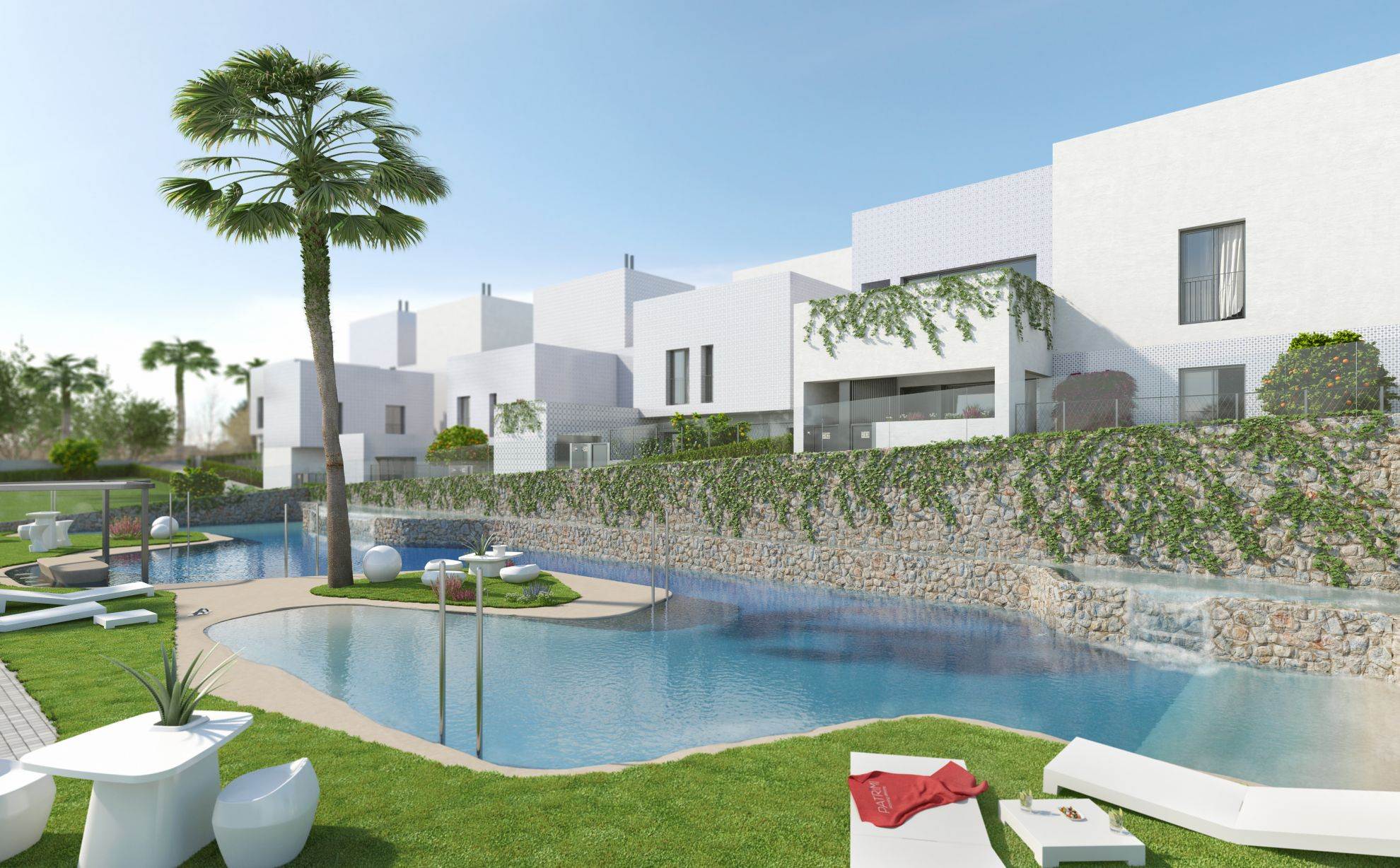 3 bedroom villa with private garden in complex with pool in Villamartín 1