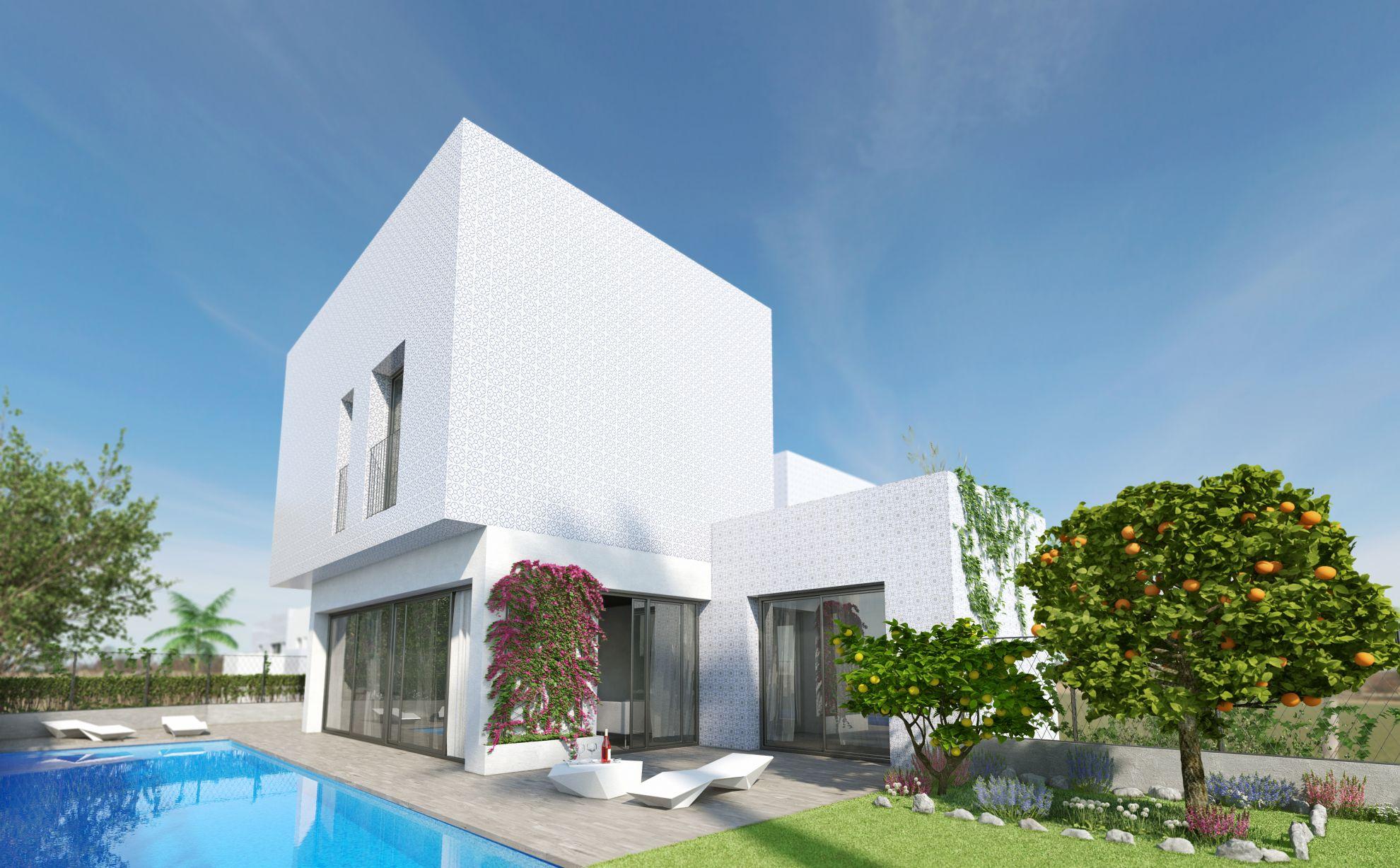 3 bedroom villa with private garden in complex with pool in Villamartín 3