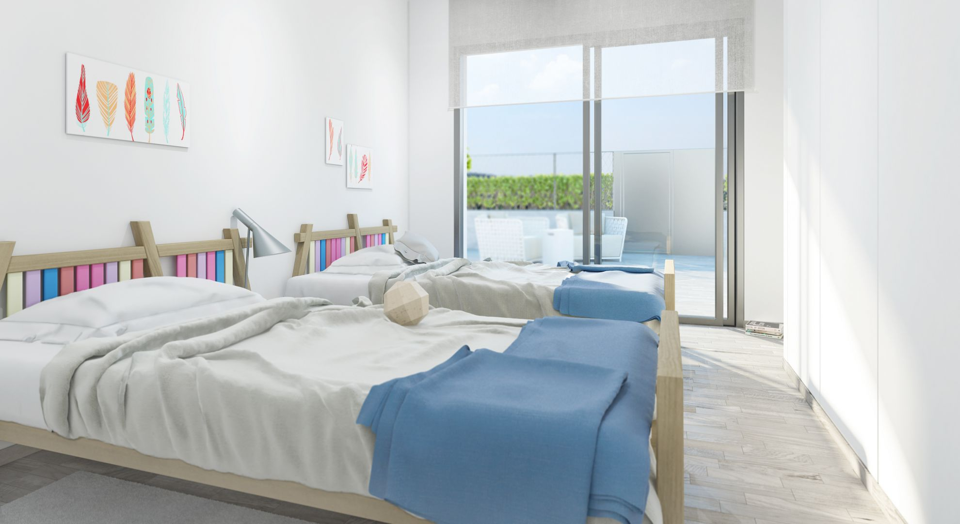 3 bedroom villa with private garden in complex with pool in Villamartín 4
