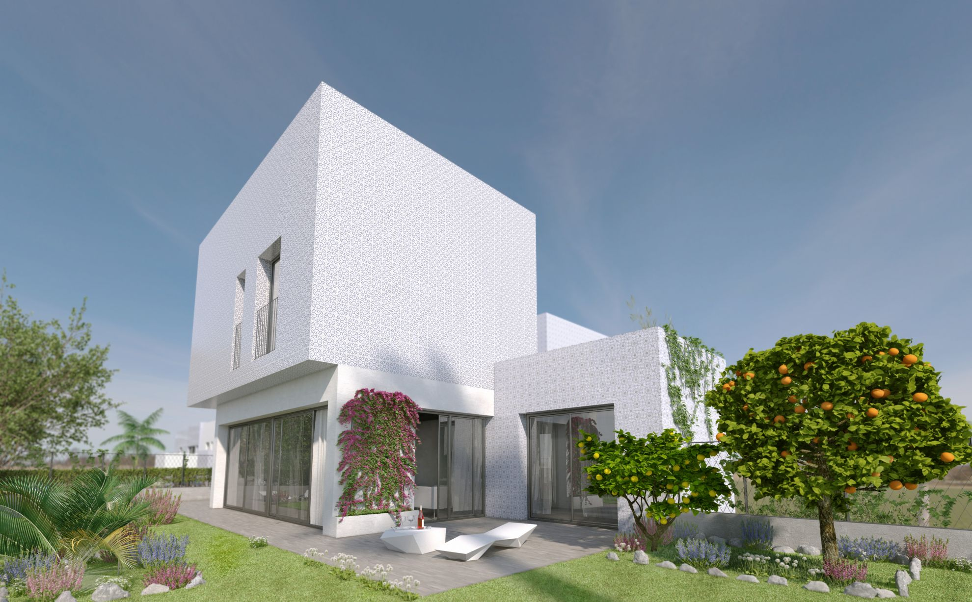 3 bedroom villa with private garden in complex with pool in Villamartín 6