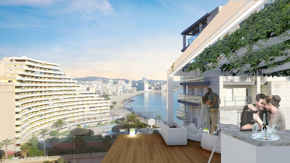 Calpe Beach II - 2 bedroom apartments with sea views and next to the sea and the Ifach Rock on Levante Beach of Calpe 2