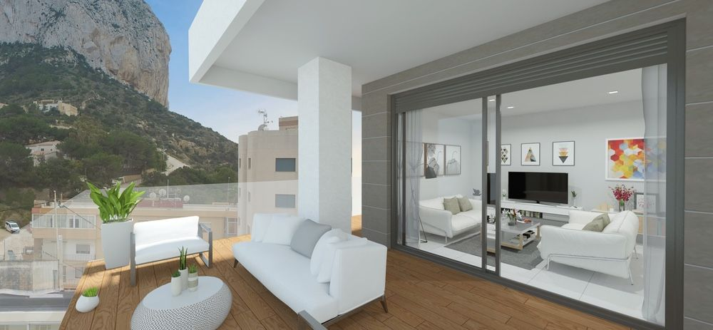Calpe Beach II - 2 bedroom apartments with sea views and next to the sea and the Ifach Rock on Levante Beach of Calpe 4
