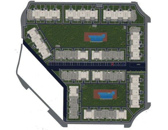 2 and 3 bedroom apartments in urbanization with pool, spa, gym, near the sea. 13