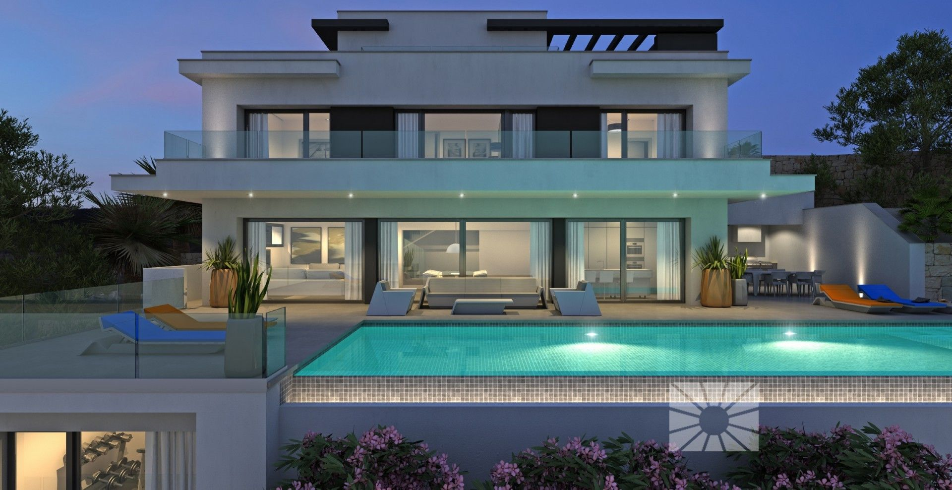 Luxury villas with exclusive plots in Cumbre del Sol urbanization. 1