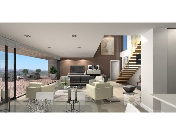 Luxury villas with exclusive plots in Cumbre del Sol urbanization. 12