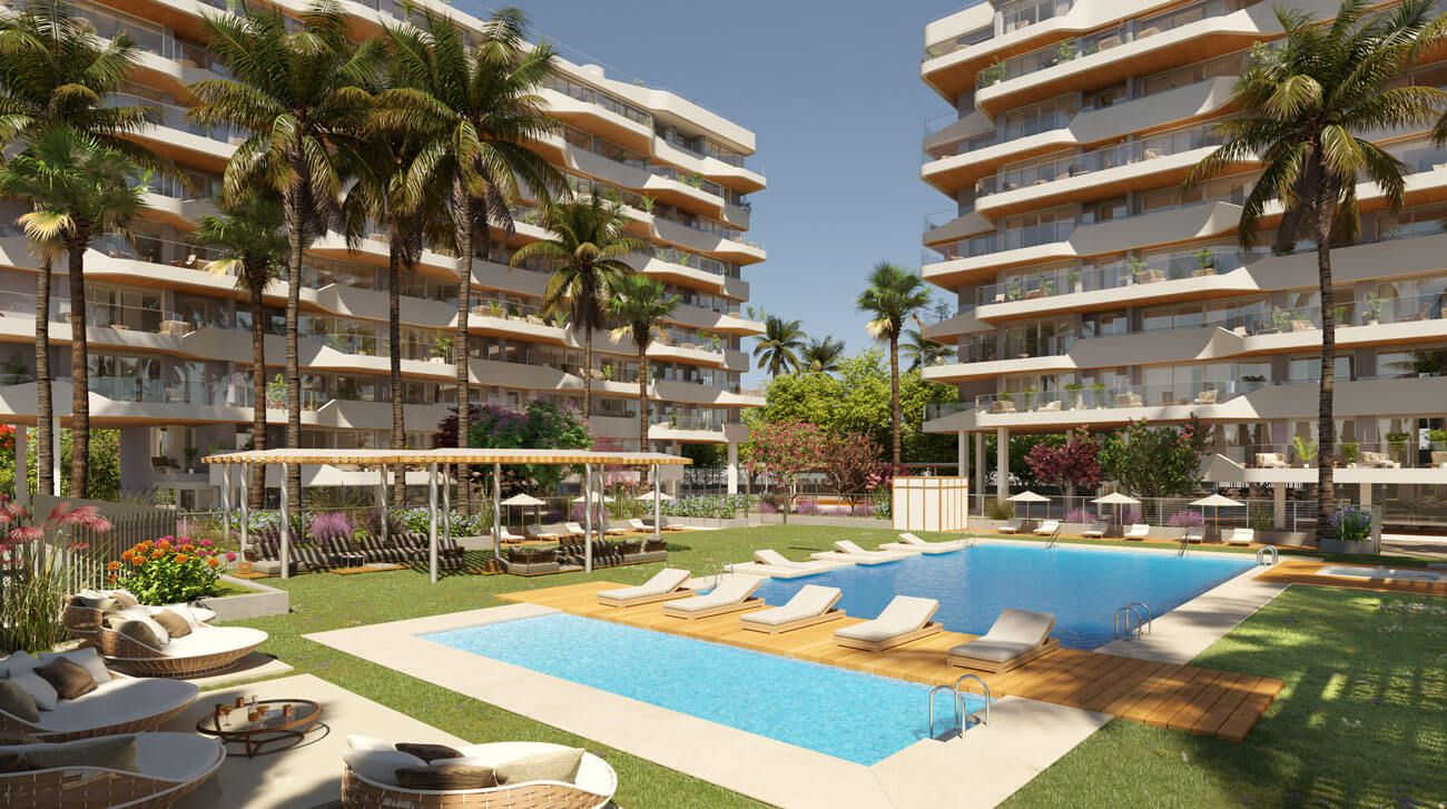 3 bedroom apartment in a complex with pool in Playa de San Juan 15