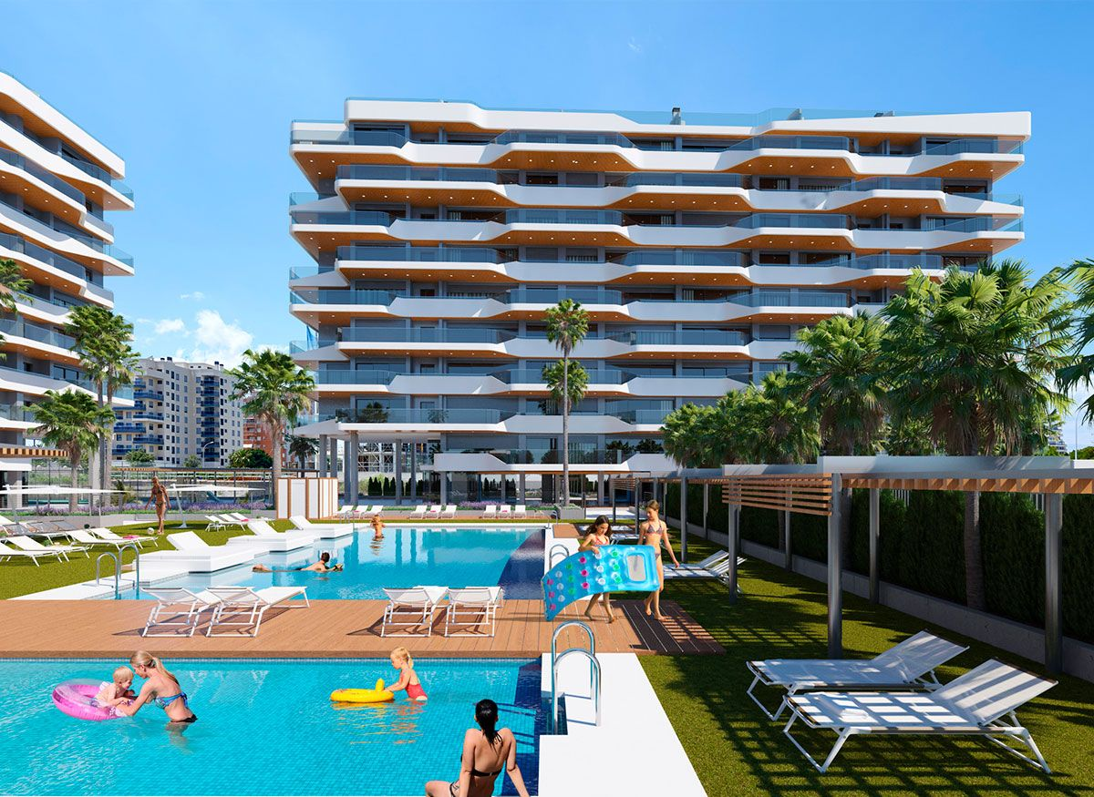 2 bedroom apartment in a complex with pool in Playa de San Juan 2
