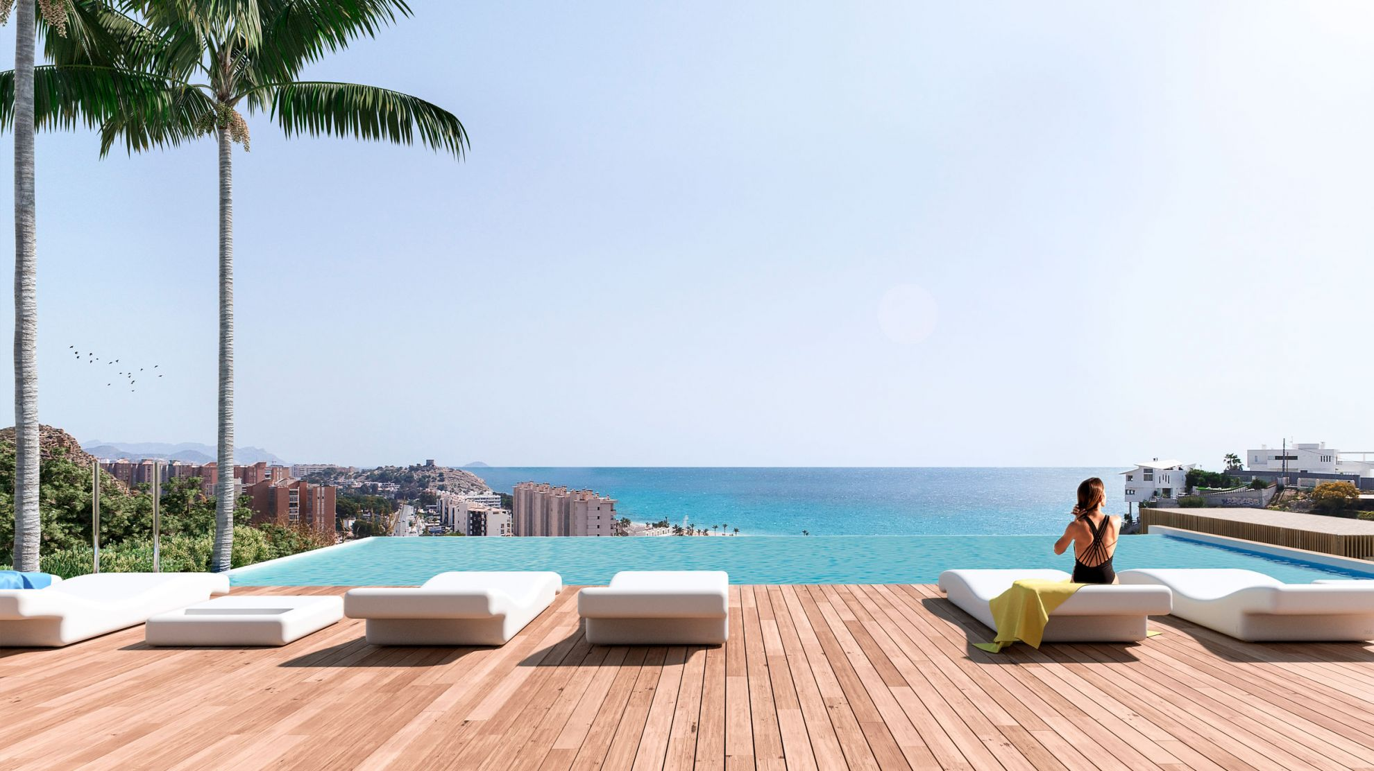 2 and 3 bedroom penthouse-style apartments with big terraces overlookg the sea. House 7 10