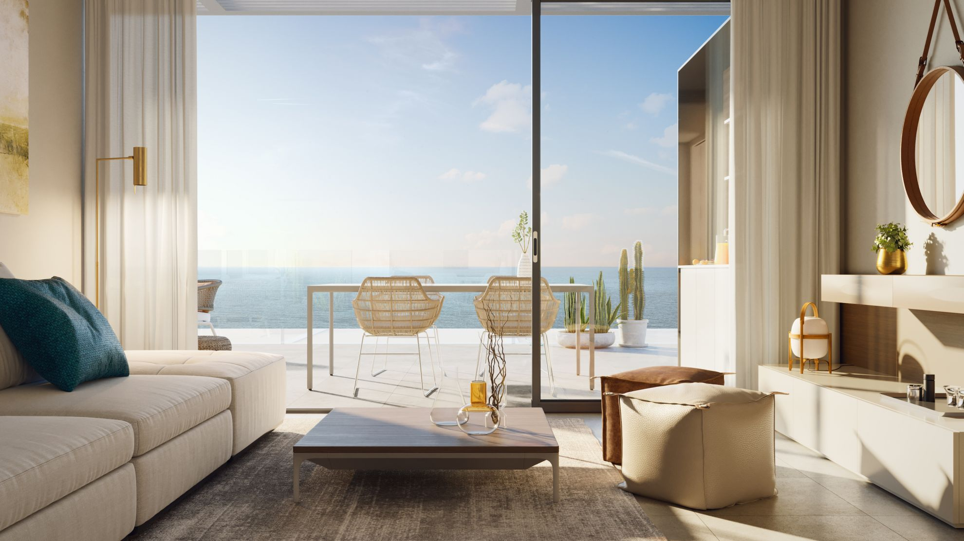 2 and 3 bedroom penthouse-style apartments with big terraces overlookg the sea. House 12 32