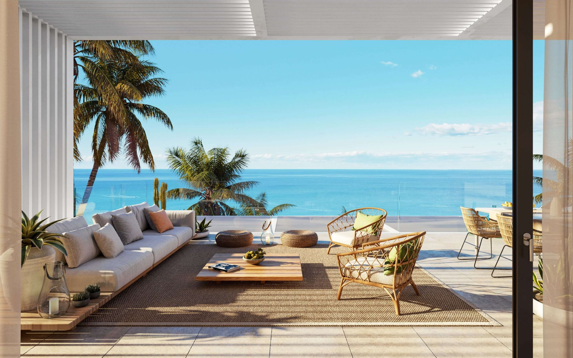 2 and 3 bedroom penthouse-style apartments with big terraces overlookg the sea. House 12 13