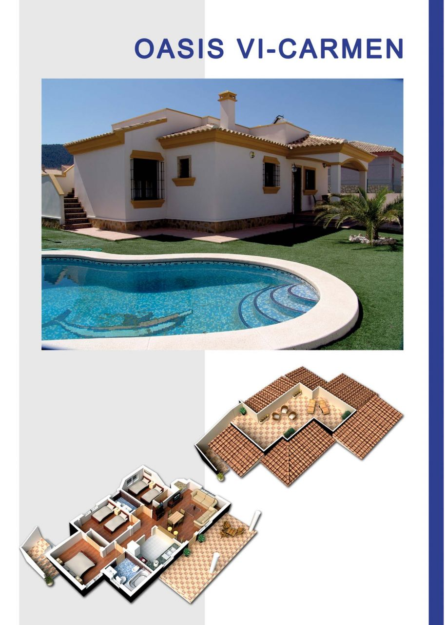New built villas 3 and 4 bedrooms, communal swimming pool, large terraces and huge green areas 1