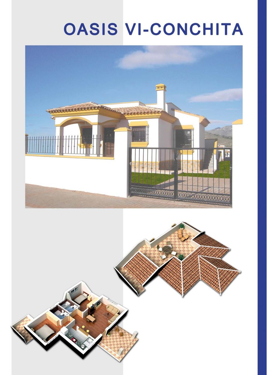 New built villas 3 and 4 bedrooms, communal swimming pool, large terraces and huge green areas 4
