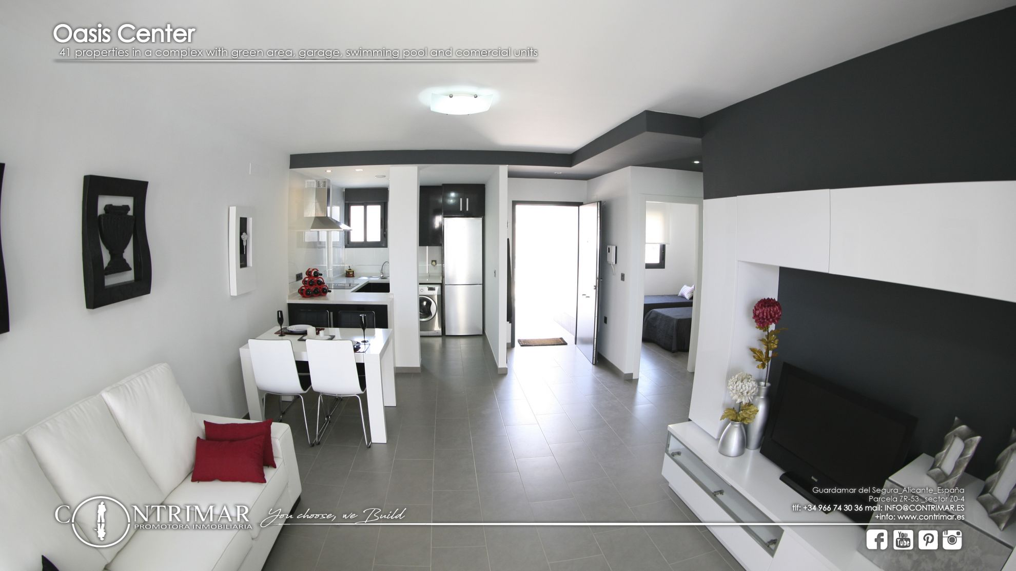 2 bedroom apartment in Guardamar del Segura in a complex with swimming pool and shopping center 6