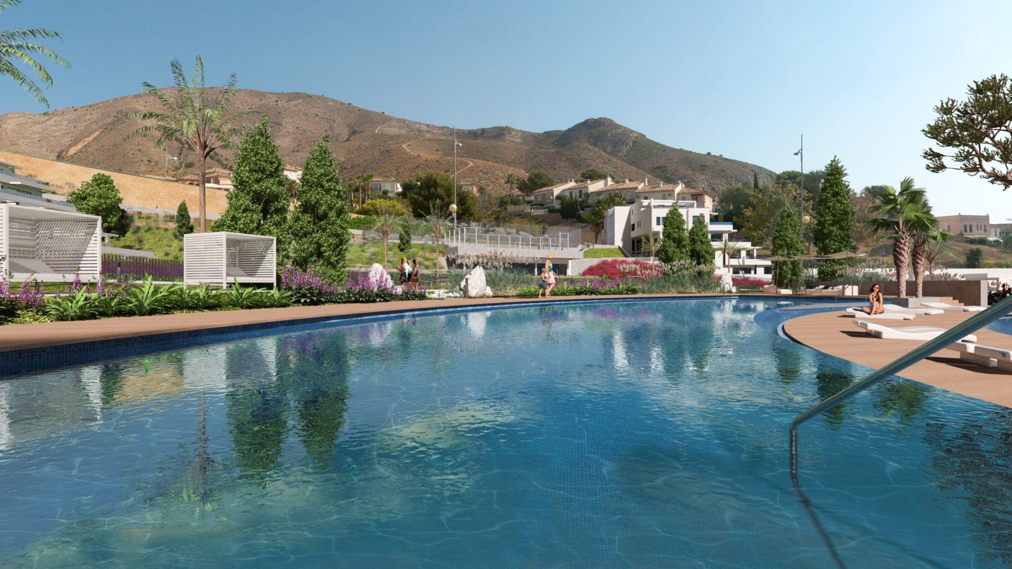 3 bedroom detached and semi-detached villas with private pool overlooking the sea in Finestrat 4