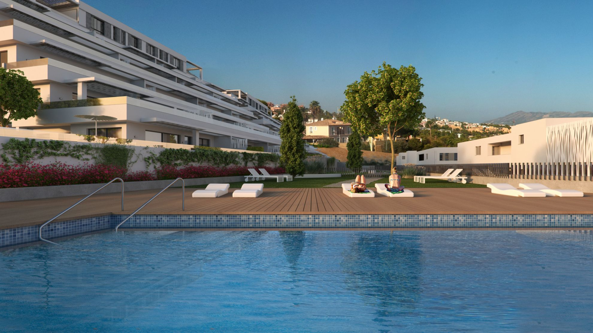 2 and 3 bedroom apartment in a fully equipped complex overlooking the sea in Finestrat 18