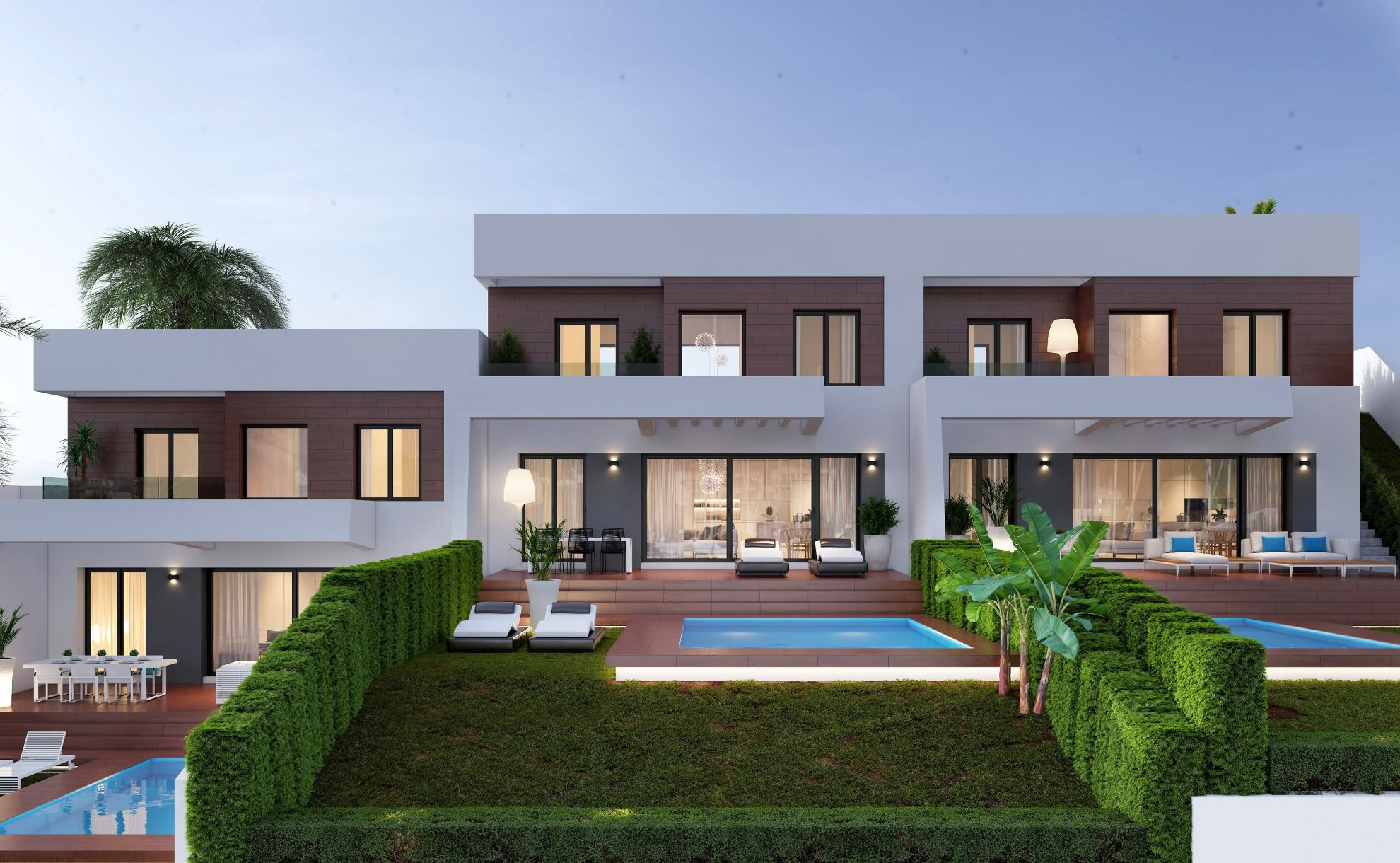 Semi detached villas in Finestrat 2