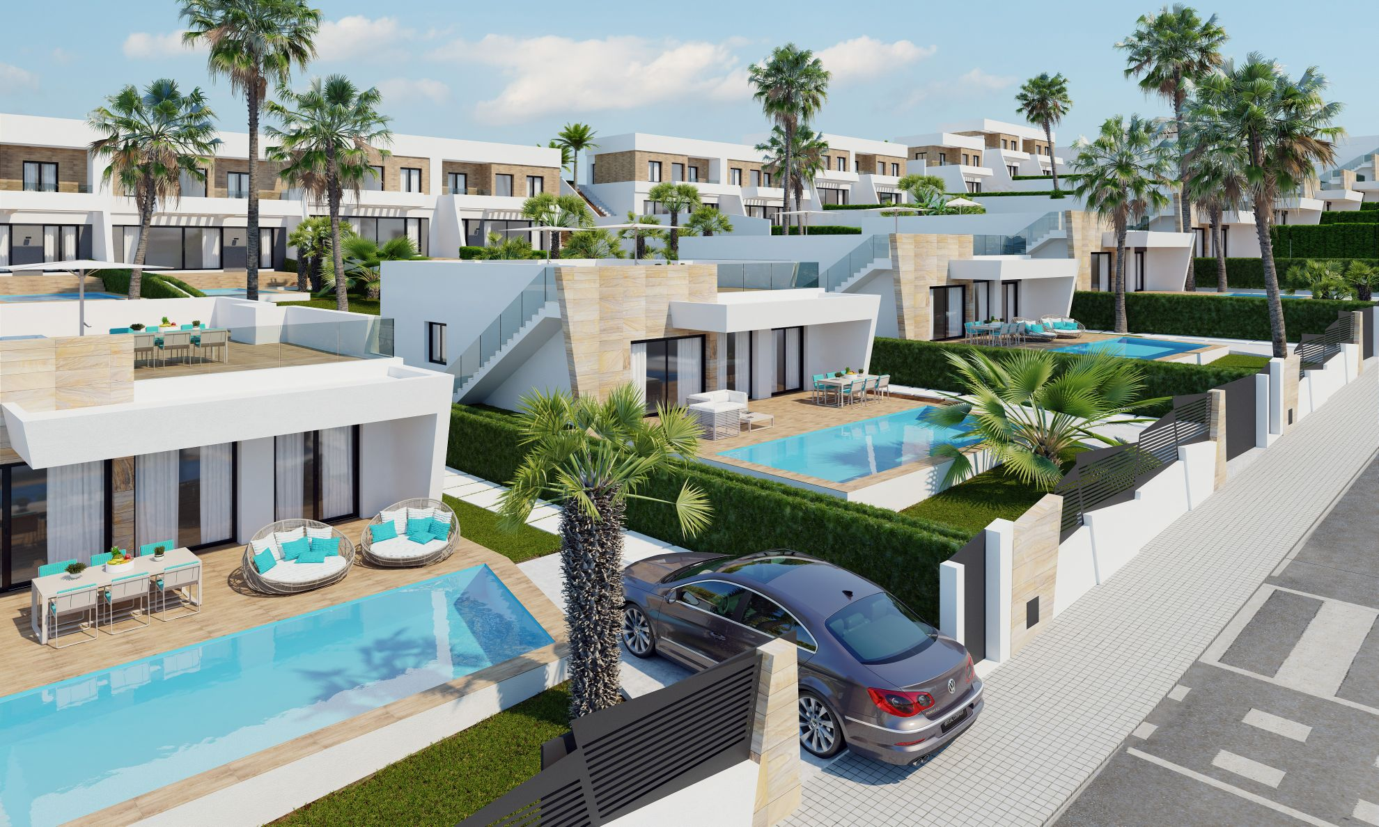 Semi detached villas in Finestrat 3