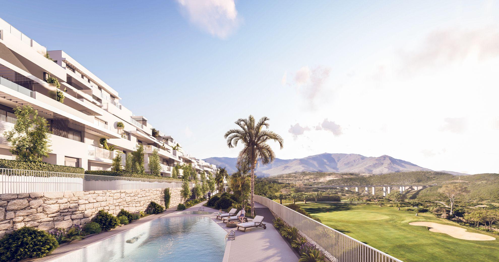 Apartamentos con vistas al campo de golf en Estepona 1