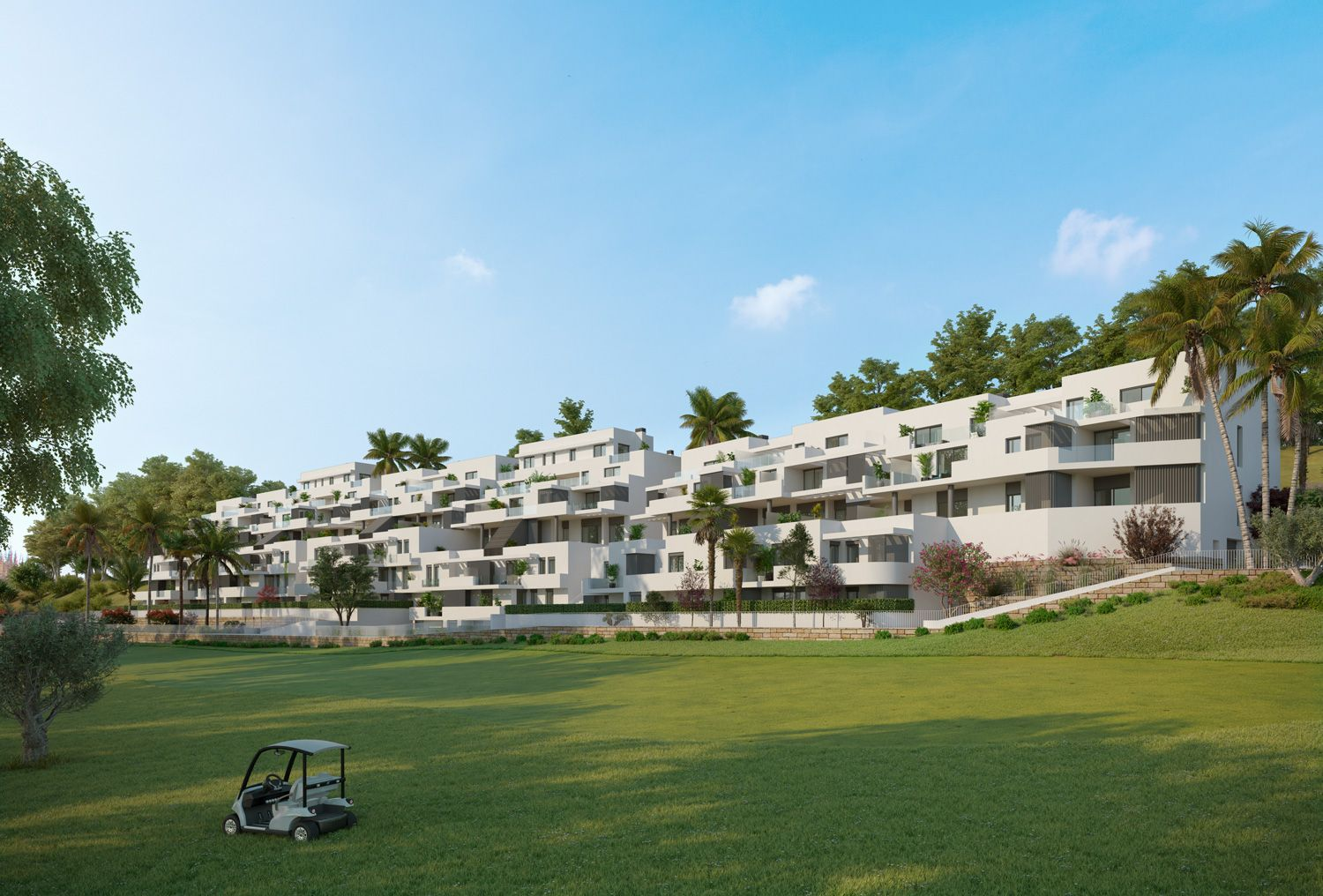 Apartments with views over golf courses in Estepona 1