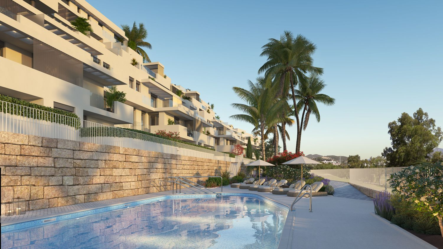 Apartments with views over golf courses in Estepona 3