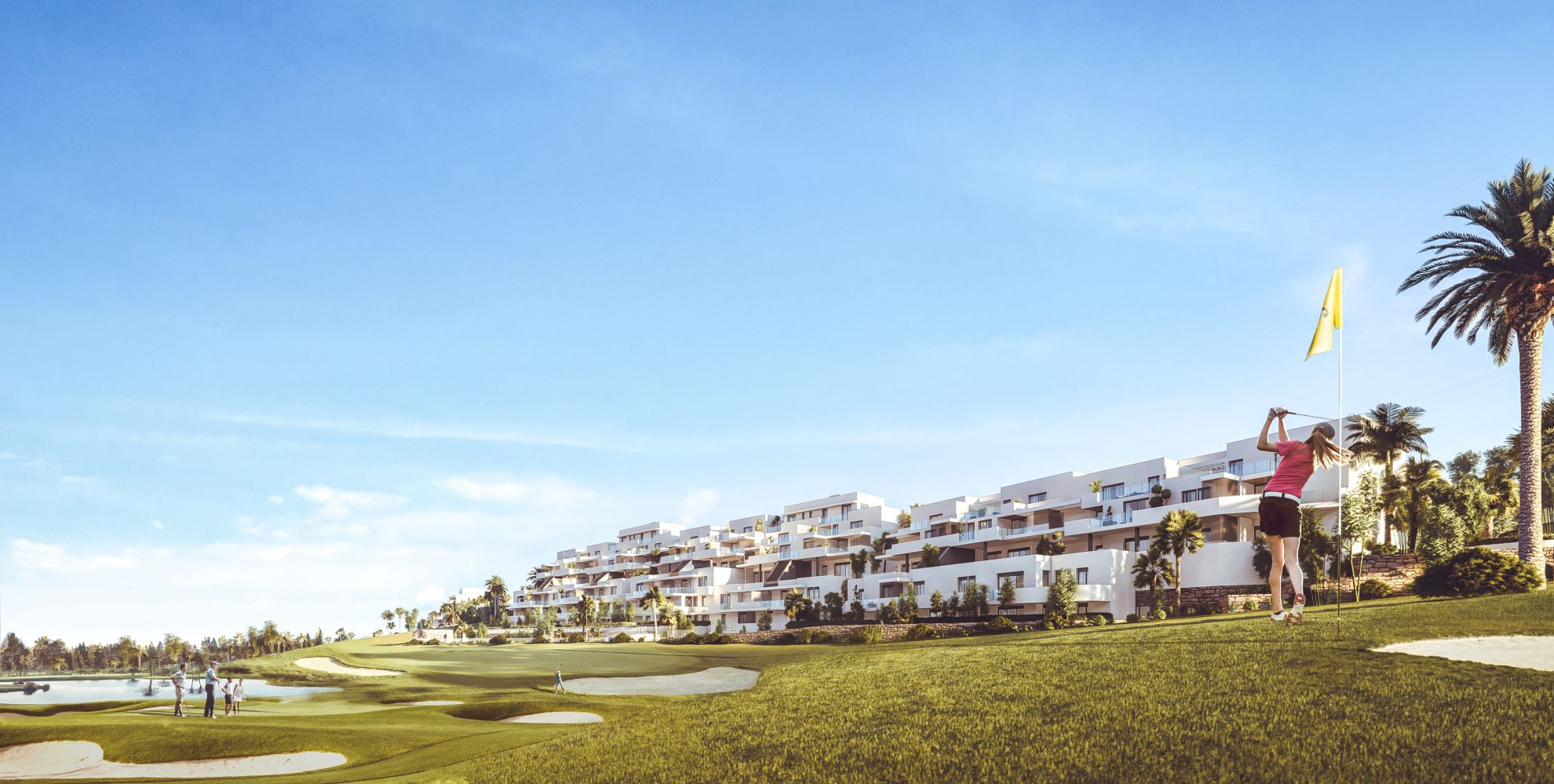 Apartments with views over golf courses in Estepona 2