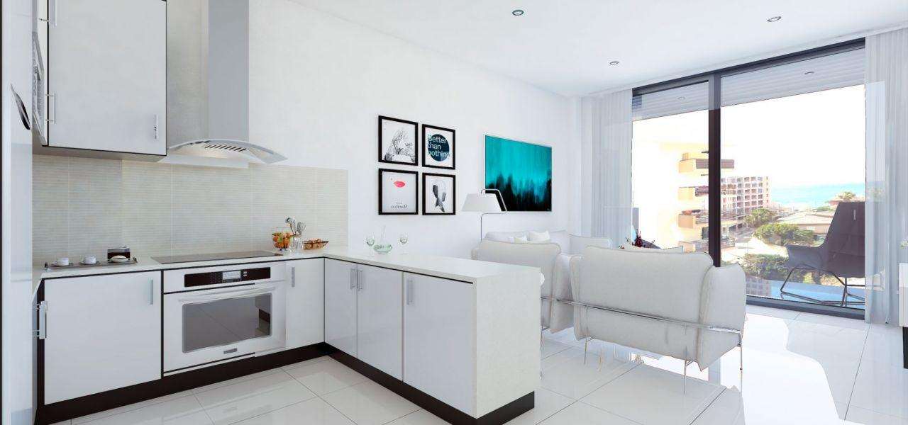 Bright Livingroom Calpe Beach