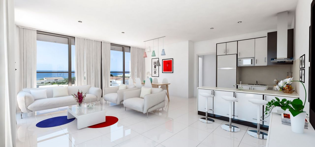 Living room with sea views in Calpe