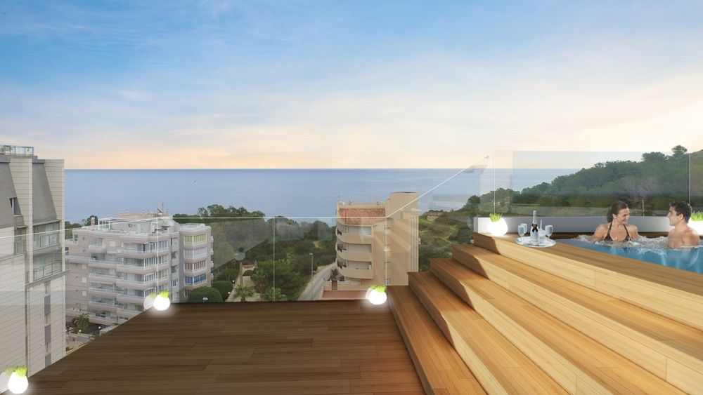 Jacuzzi in chill-out area, with sea views in urbanization, Calpe. Buy house Sonneil.