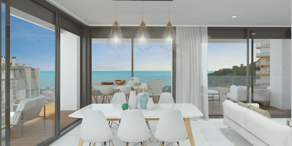 Bright living room with sea views, Calpe. Buy house Sonneil.
