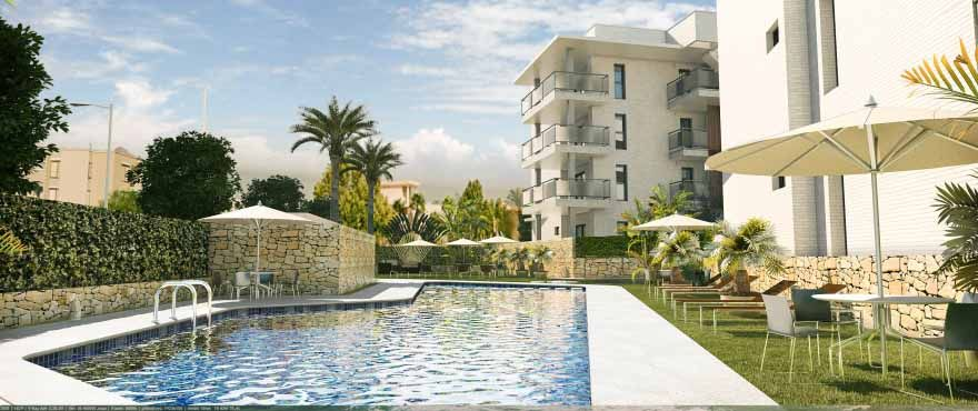 9 and 3 bedroom apartments with terrace nexto Arenal beach in Jávea 1