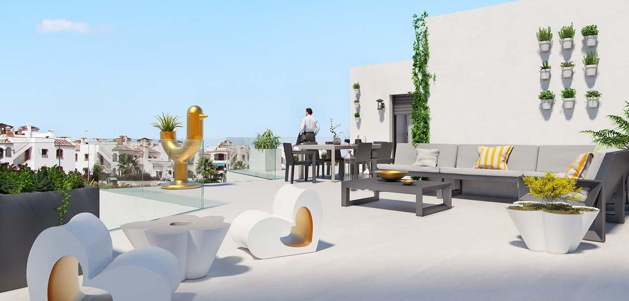 First floor of 2 bedrooms with terrace of 155 m2 2