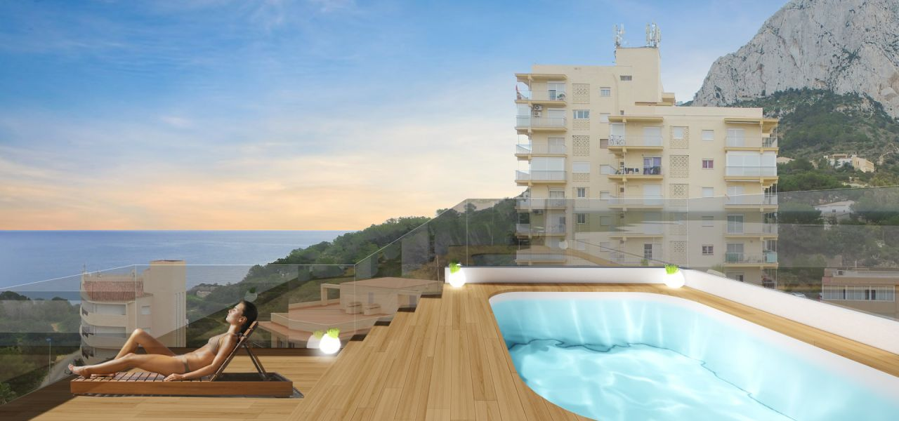 Calpe Beach II - 2 bedroom apartments with sea views and next to the sea and the Ifach Rock on Levante Beach of Calpe 8