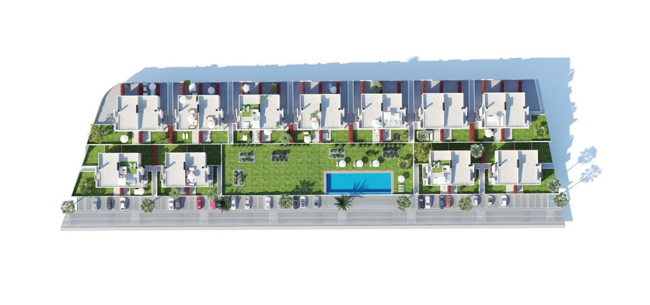 Bungalows with 2 rooms and 2 bathrooms, terrace or solarium, in urbanization with swimming pool. 6