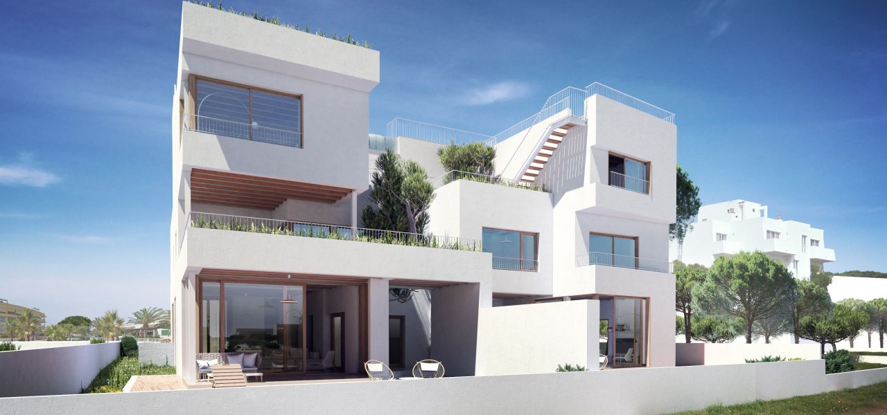 Exclusive 3 bedroom penthouse overlooking the sea and surrounded by nature, only a few minutes to the Es Trenc beach in Majorca 1