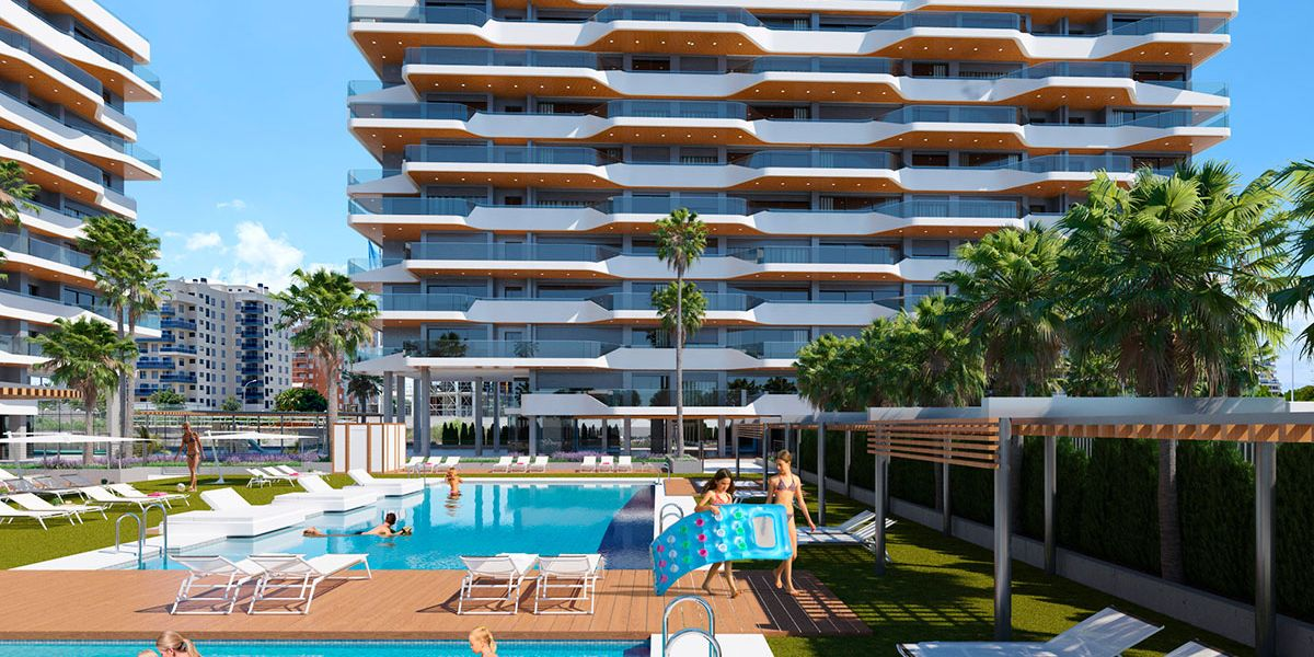2 bedroom apartment in a complex with pool in Playa de San Juan 1