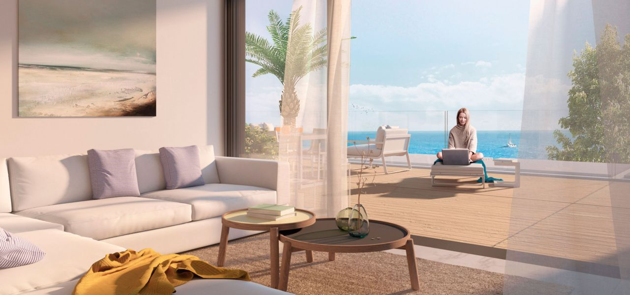 2 and 3 bedroom penthouse-style apartments with big terraces overlookg the sea. House 3 4