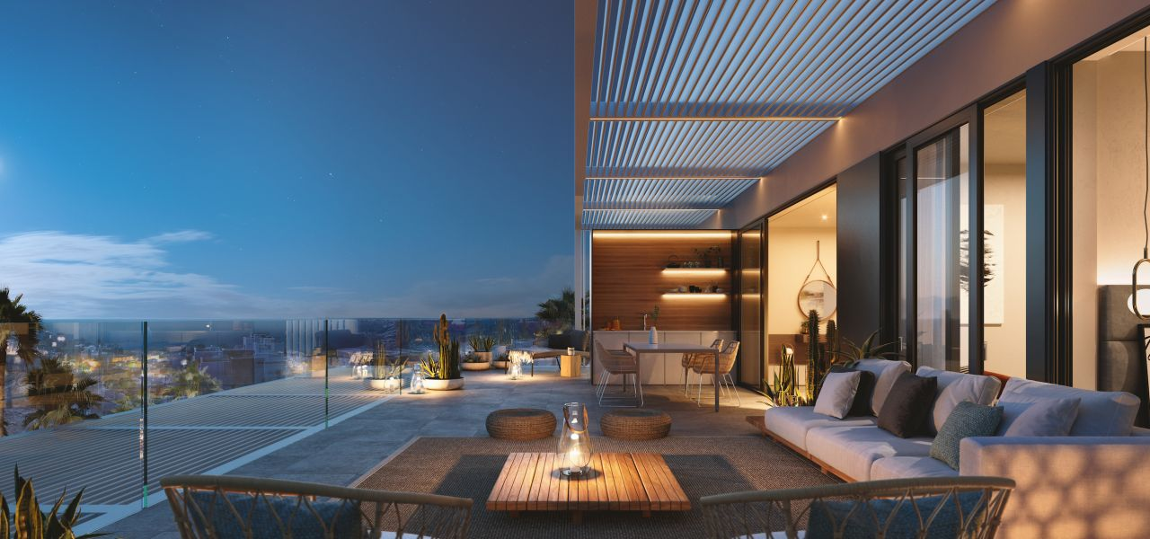 2 and 3 bedroom penthouse-style apartments with big terraces overlookg the sea. House 3 12