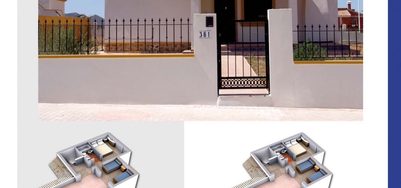 New built villas 3 and 4 bedrooms, communal swimming pool, large terraces and huge green areas 3