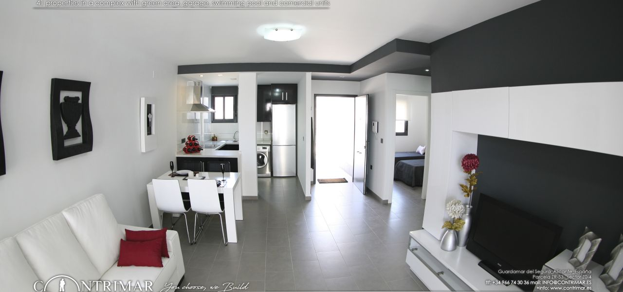 1 bedroom apartment in Guardamar del Segura in a complex with swimming pool and shopping center 6