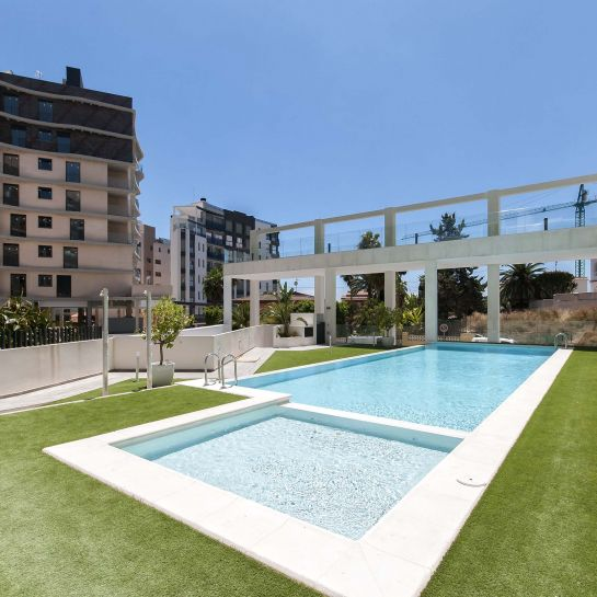 Apartments with sea views at Calpe downtown