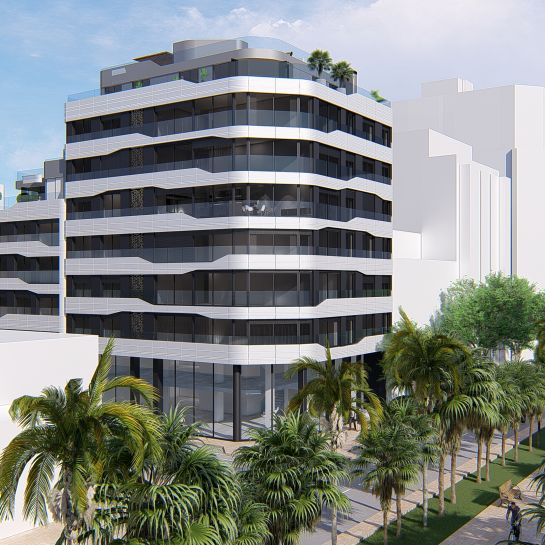 Flats in luxury complex with pool and spa